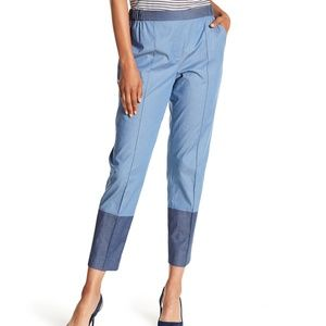 St. John Collection Colorblock Straight Leg Pants